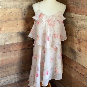 Sheer Floral Strappy Sundress Easter Mother's Day